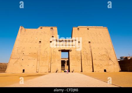 Temple of Horus, Edfu, Upper Egypt, Egypt, North Africa, Africa - Stock Photo