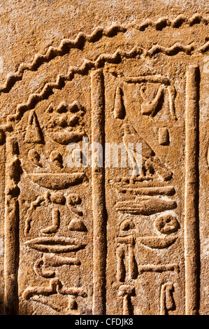 Detail, Temple of Horus, Edfu, Upper Egypt, Egypt, North Africa, Africa - Stock Photo