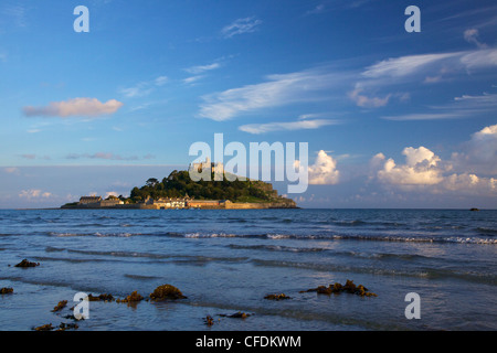 Late summer evening sunshine on St. Michael's Mount, Marazion near Penzance, Cornwall, England, United Kingdom, - Stock Photo