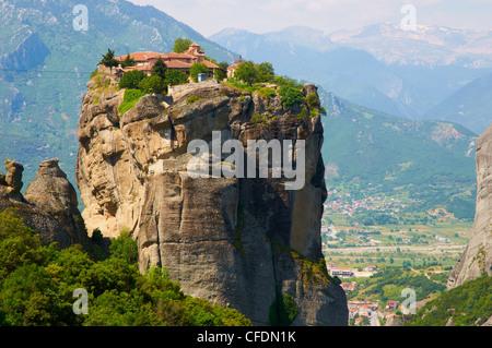Monastery of the Holy Trinity (Agia Triada), Meteora, UNESCO World Heritage Site, Greece, Europe - Stock Photo
