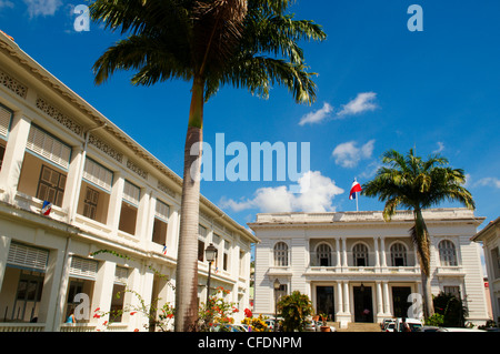City hall, Fort-de-France, Martinique, French Overseas Department, Windward Islands, West Indies, Caribbean, Central - Stock Photo