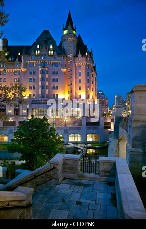 fairmont chateau laurier in downtown ottawa stock photo. Black Bedroom Furniture Sets. Home Design Ideas