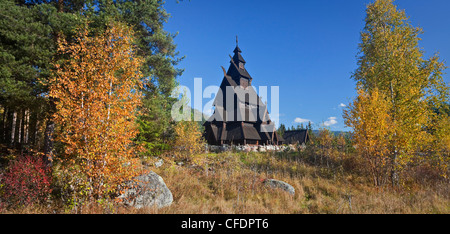 Replica of the Gol stave church, Norwegian Museum of Cultural History, Bygdoy, Norway - Stock Photo