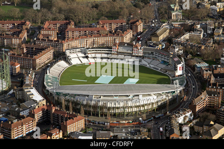 Aerial image of The Kia Oval cricket ground in South London - Stock Photo