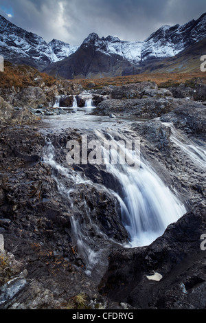 The Cuillin mountains,,the Allt Coir a Mhadhaidh on the Fairy Pools walk, Glen Brittle, Isle of Skye, Scotland, - Stock Photo