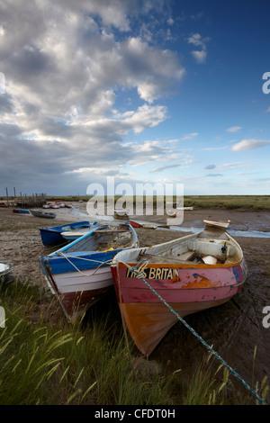 A view of Morston Quay, North Norfolk, Norfolk, England, United Kingdom, Europe - Stock Photo