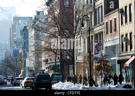Shoppers in the Soho area of New York City, New York State, United States of America, - Stock Photo