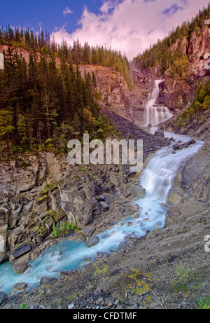 White Falls Valley 1000 Falls along Berg Trail - Stock Photo