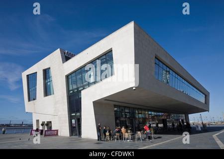 New ferry terminal, Pier Head, Liverpool, Merseyside, England, United Kingdom, Europe - Stock Photo