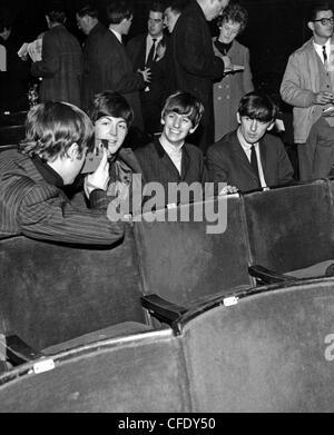 BEATLES in 1963 from left John Lennon, Paul McCartney, Ringo Starr, George Harrison - Stock Photo