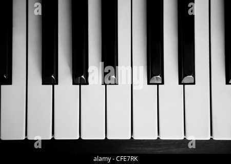 Piano close up on the keyboard with nobody - Stock Photo