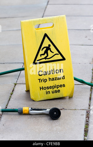 caution trip hazard sign health and safety at work wires. Black Bedroom Furniture Sets. Home Design Ideas
