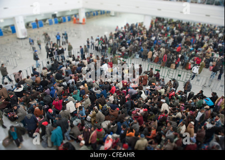 Djerba Airport. Tunisia.  Around 15000  refugees evacuated from Libya waiting for planes to take them back home - Stock Photo