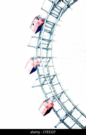 Riesenrad (Giant Wheel), Prater, Vienna, Austria - Stock Photo