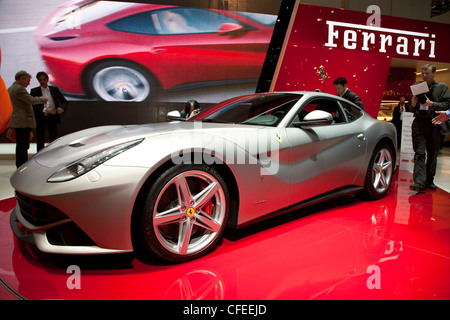 Ferrari F12 Berlinetta at the Geneva Motor Show 2012 - Stock Photo