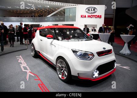 Kia Trackster at the Geneva Motor Show 2012 - Stock Photo