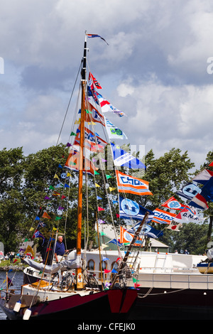 Amsterdam Sail 2010 event in the Netherlands starts with the spectacular Sail-in Parade. - Stock Photo