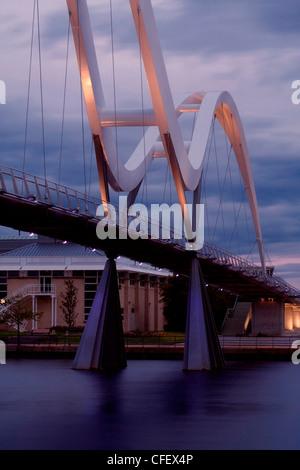 Beautiful Infinity Bridge in Stockton Stock Photo