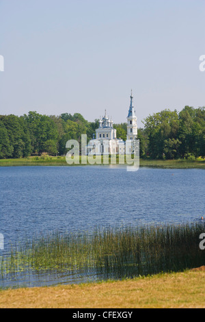 Orthodox Church of St Alexander Nevsky, Stameriena, Gulbene Municipality, Vidzeme, Latvia - Stock Photo
