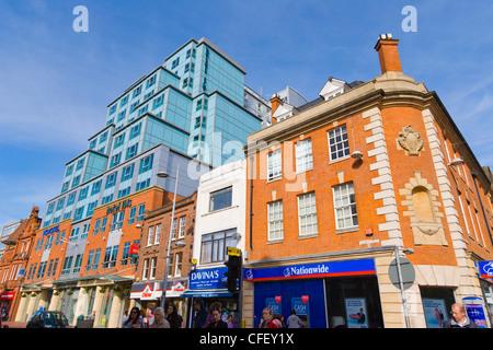 Hotel Ibis and Novotel, Friar Street, Reading, Berkshire, England, UK - Stock Photo