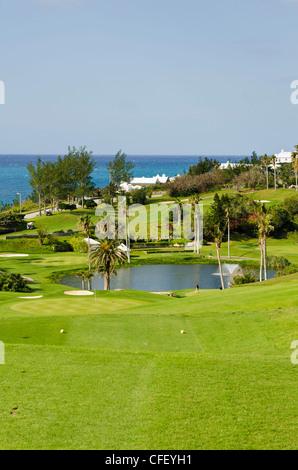 Fairmont Southampton Hotel and Golf Club, Bermuda, Central America - Stock Photo