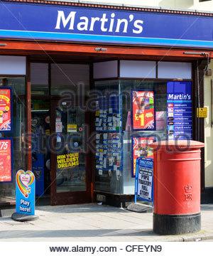 Martin's newsagents, Wimborne Minster, Dorset, England - Stock Photo