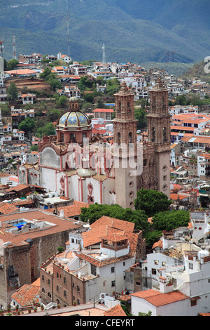 Santa Prisca Church, Plaza Borda, Taxco, Guerrero State, Mexico, - Stock Photo