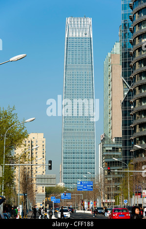 The China World Trade Center, built in 1990, Central Business District, Beijing, China - Stock Photo