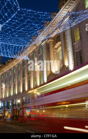 Christmas lights, Regents Street, London, England, United Kingdom, Europe - Stock Photo