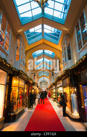 Burlington Arcade at Christmas, Piccadilly, London, England, United Kingdom, Europe - Stock Photo