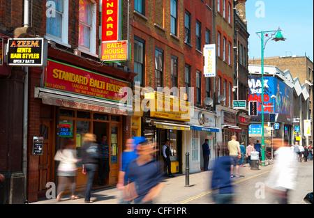 Brick Lane, The East End, London, England, United Kingdom, Europe - Stock Photo