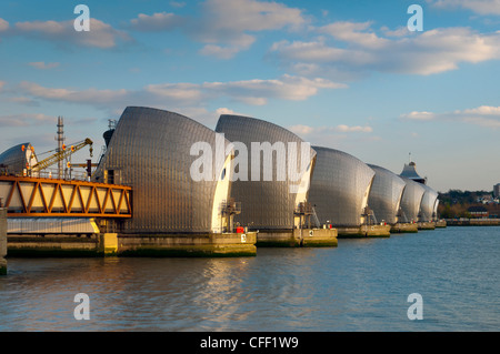 Thames Barrier, Woolwich, London, England, United Kingdom, Europe - Stock Photo