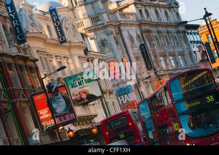 Theatreland, Shaftesbury Avenue, London, England, United Kingdom, Europe - Stock Photo
