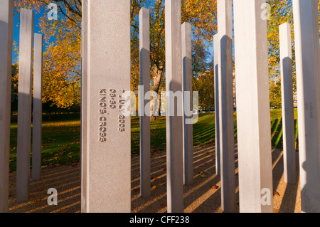 The 7th July Memorial to victims of the 2005 bombings, Hyde Park, London, England, United Kingdom, Europe - Stock Photo