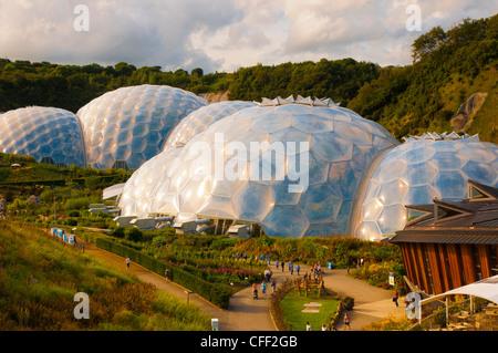 Eden Project near St. Austell, Cornwall, England, United Kingdom, Europe - Stock Photo