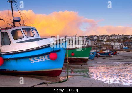 St. Ives Harbour, Cornwall, England, United Kingdom, Europe - Stock Photo