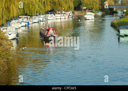The Great River Ouse and Waterside, Ely, England - Stock Photo