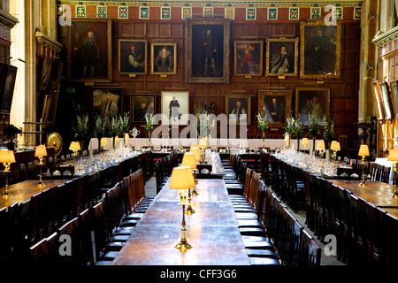 Great Hall (dining room) at Christ Church College, Oxford University, Oxford, Oxfordshire, England, United Kingdom, - Stock Photo