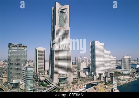 Japan, Yokohama, Minato Mirai District, Landmark Tower - Stock Photo