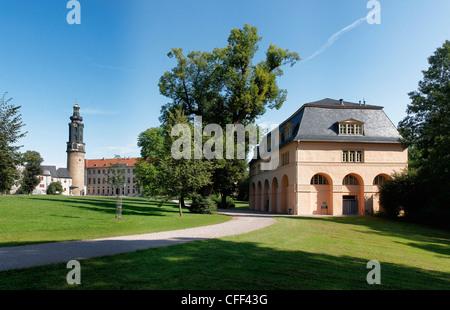 City castle, UNESCO World Heritage Site, Park an der Ilm, Weimar, Thuringia, Germany - Stock Photo