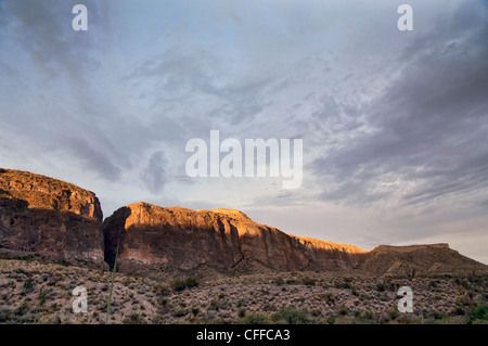 The Mesa de Anguila in Big Bend National Park. - Stock Photo