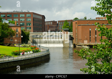 The Tammerkoski rapids at Tampere (Tammerfors) Finland. - Stock Photo