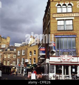 Offices to let on Cowcross Street and St. John Street Clerkenwell EC1 London England UK  KATHY DEWITT - Stock Photo