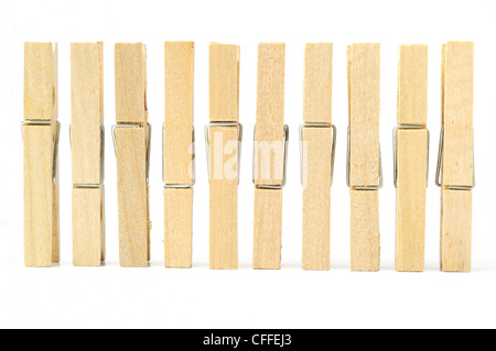 wooden clothes pin with Path - Stock Photo