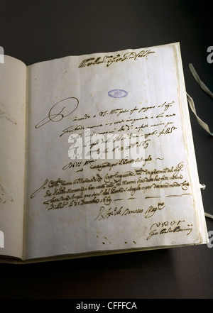 Exhibition 'Lux in Arcana - The Vatican Secret Archives Reveals Itself'. Capitoline Museums, Rome, Latium, Italy - Stock Photo