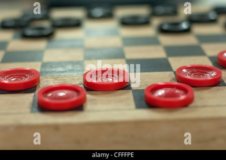 Evinston Florida inside the Wood & Swink country store & oldest US Post Office in Florida a game of checkers sits - Stock Photo