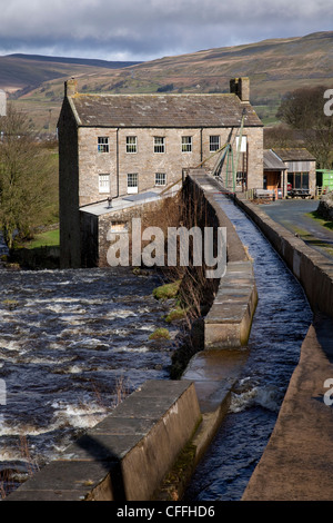 The Restored Gayle Mill near Hawes, North Yorkshire Dales and National Park, Wensleydale, UK - Stock Photo