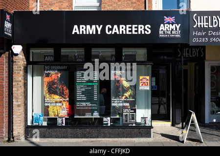 Army Careers office in the town centre, Burton-upon-Trent, Staffordshire, England, UK - Stock Photo