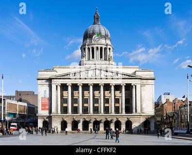 Nottingham Council House (city hall), Old Market Square, Nottingham, Nottinghamshire, England, UK