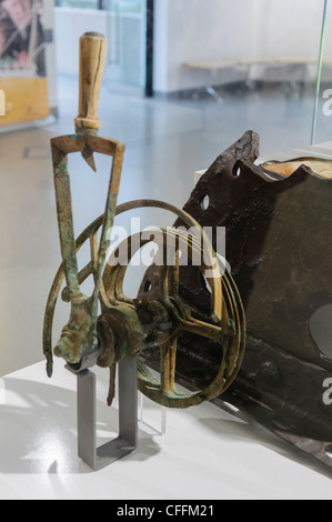 Part of the telegraphy equipment from Titanic, recovered from the sea bed, on display at the Titanica Exhibition, - Stock Photo